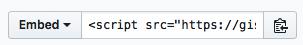Github Gists Embed Code Option
